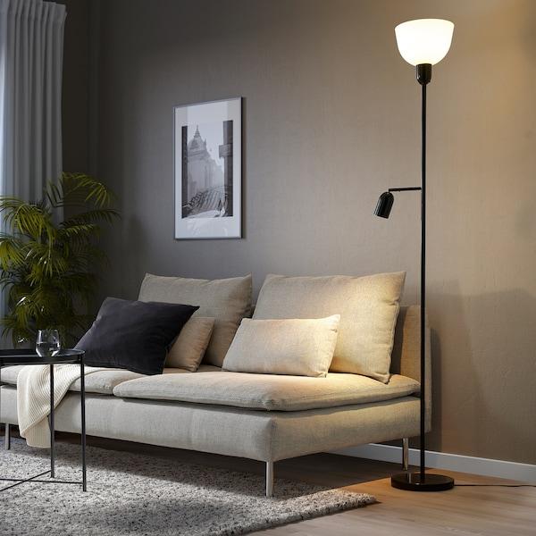 HEKTOGRAM Staande uplight/leeslamp, zwart/wit