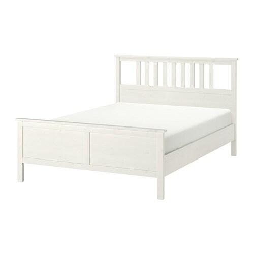hemnes bedframe - 160x200 cm, -, wit gebeitst - ikea
