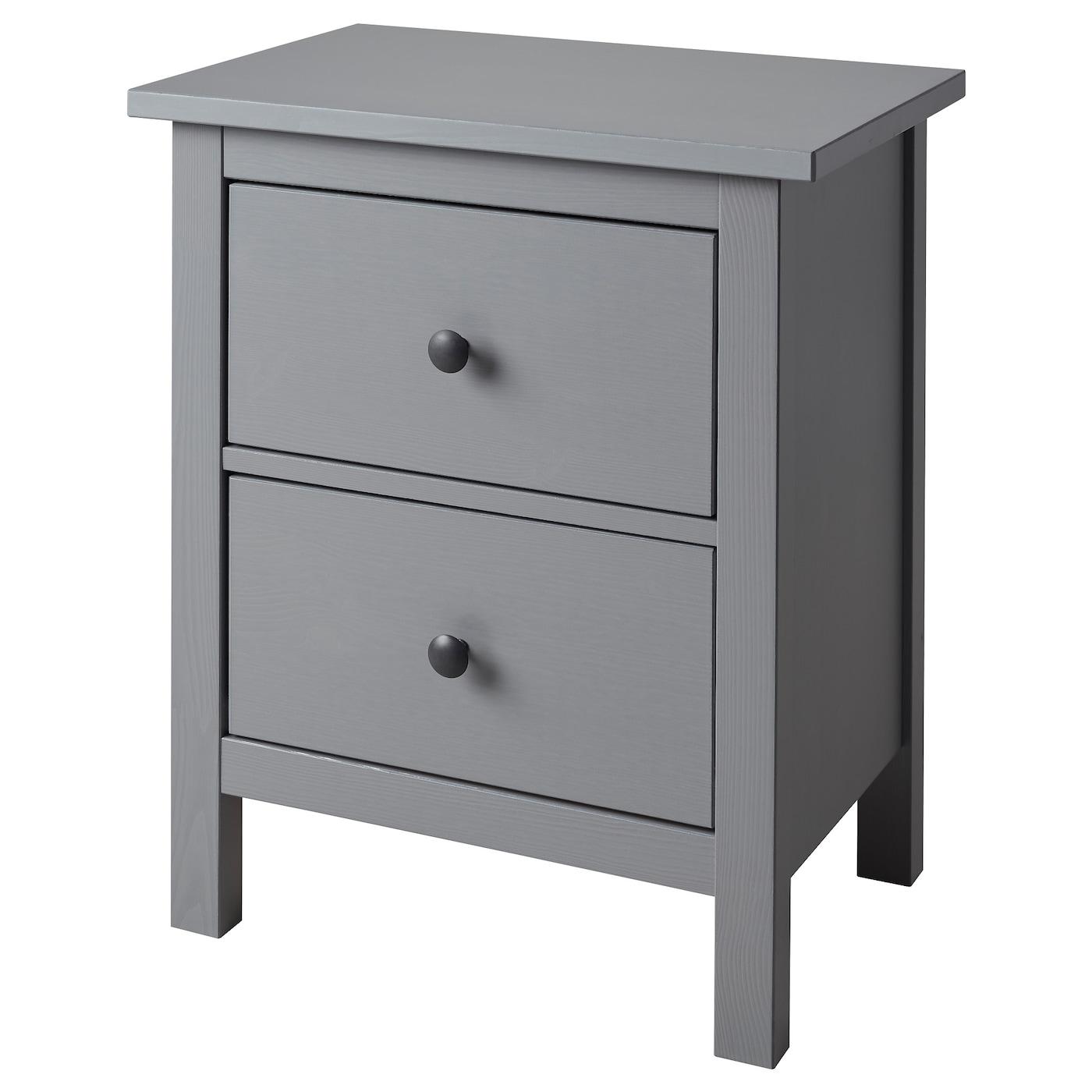 IKEA - HEMNES Ladekast 2 lades - 54x66 cm - Grijs gelazuurd