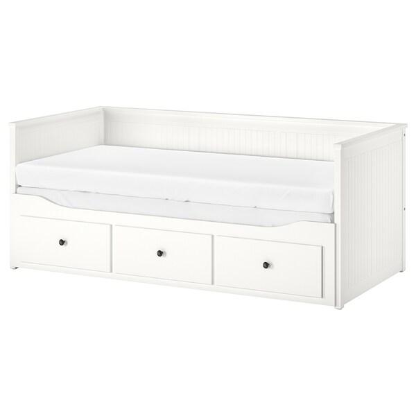 Uitgelezene HEMNES Bedbank met 3 lades, wit, 80x200 cm - IKEA VU-98
