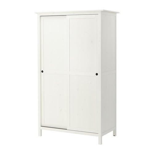 HEMNES Garderobekast 2 schuifdeuren IKEA Massief hout; een slijtvast ...