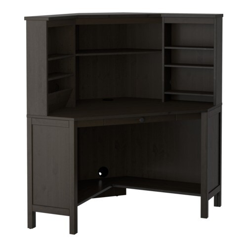 hemnes hoekbureau zwartbruin ikea. Black Bedroom Furniture Sets. Home Design Ideas