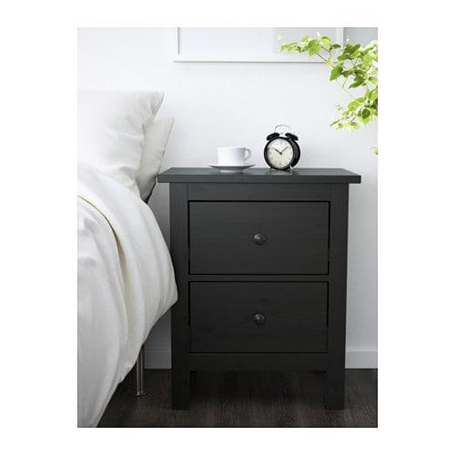 Ikea Hemnes Ladekast Zwart.Hemnes Ladekast 2 Lades Zwartbruin Ikea