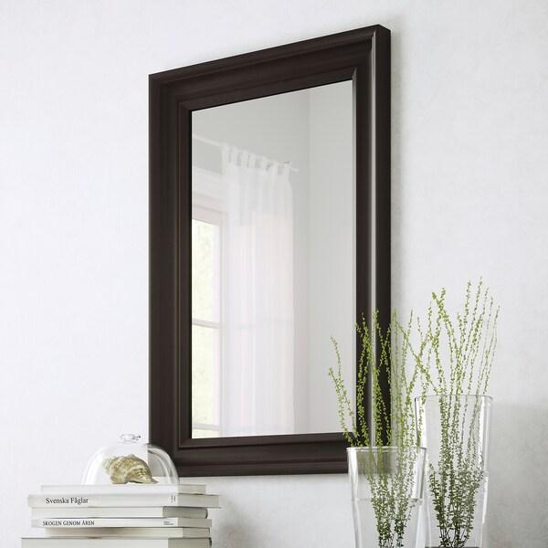 HEMNES spiegel zwartbruin 60 cm 90 cm