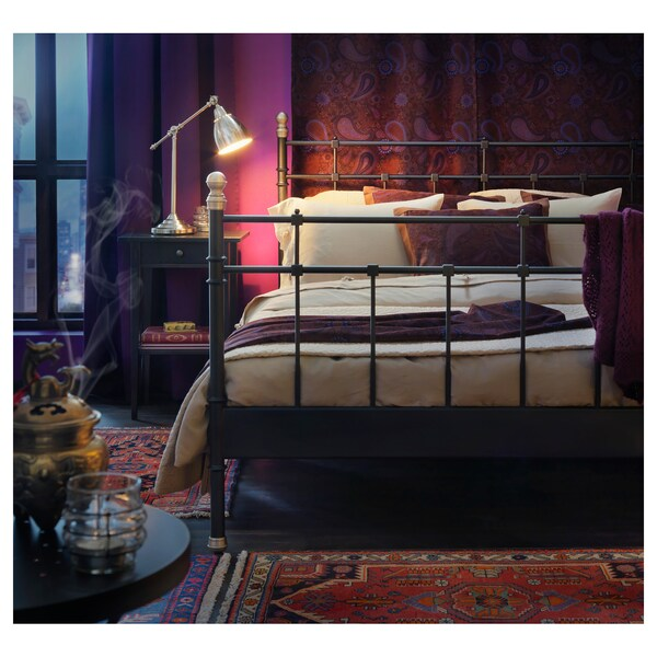 HEMNES Nachtkastje, zwartbruin, 46x35 cm