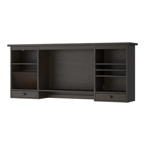 hemnes opbouwdeel bureau zwartbruin ikea. Black Bedroom Furniture Sets. Home Design Ideas