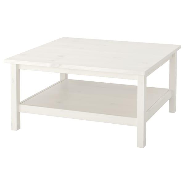 Hemnes Salontafel Wit Gebeitst Wit 90x90 Cm Ikea
