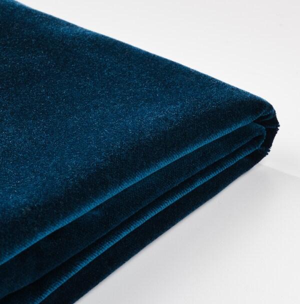 HENRIKSDAL Eetkamerstoel, berken/Djuparp donker groenblauw