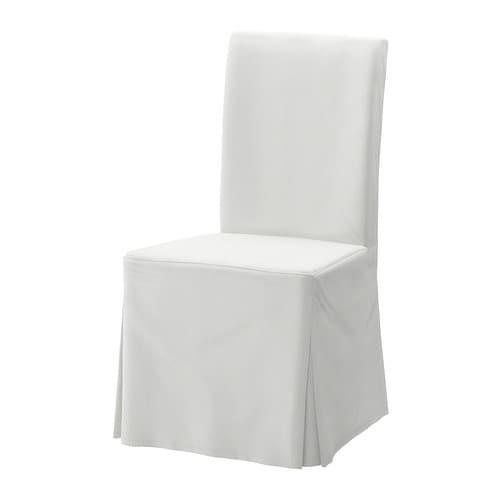 HENRIKSDAL Lange hoes voor stoel - IKEA