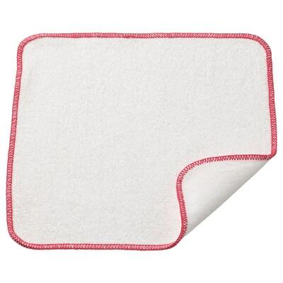 HILDEGUN Vaatdoek, rood, 25x25 cm