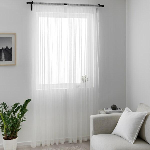 HILDRUN vitragegordijnen, 1 paar wit/gestippeld 300 cm 145 cm 0.62 kg 4.35 m² 2 st.