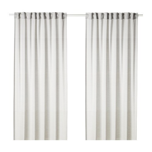 HILJA Gordijnen, 1 paar, lichtgrijs - 145x300 cm - IKEA