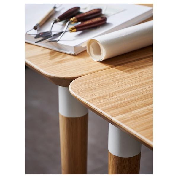 HILVER tafel bamboe 140 cm 65 cm 73 cm