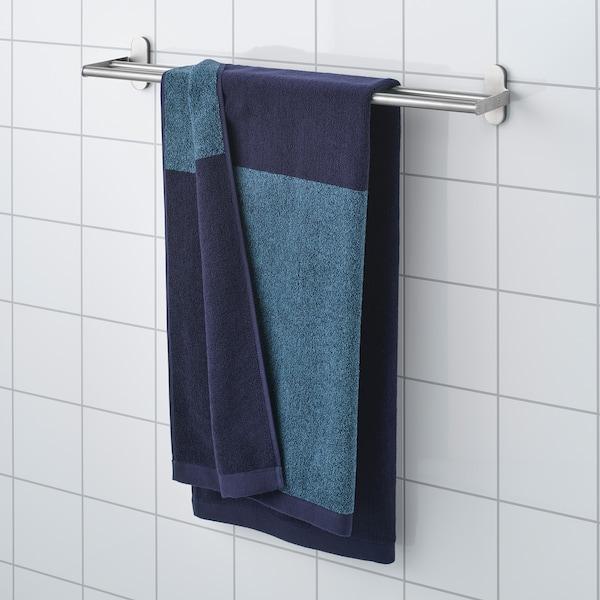 HIMLEÅN Badhanddoek, donkerblauw/gemêleerd, 70x140 cm