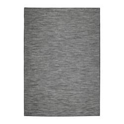 HODDE Vloerkleed glad geweven, bin/buit, grijs binnen/buiten, zwart