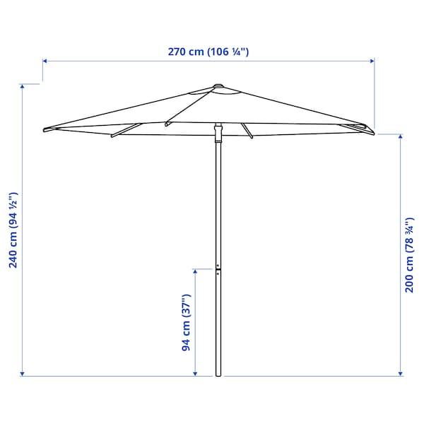 HÖGÖN Parasol, wit, 270 cm