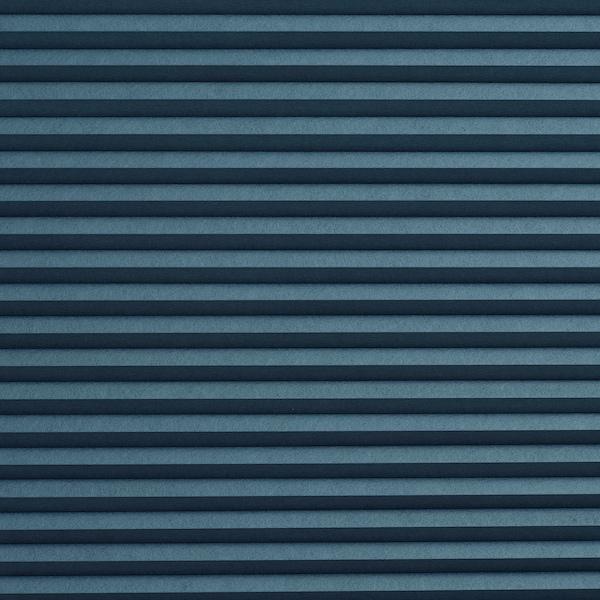 HOPPVALS Deels verduisterend plisségordijn, blauw, 60x155 cm