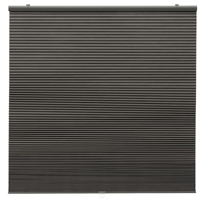 HOPPVALS Deels verduisterend plisségordijn, grijs, 80x155 cm