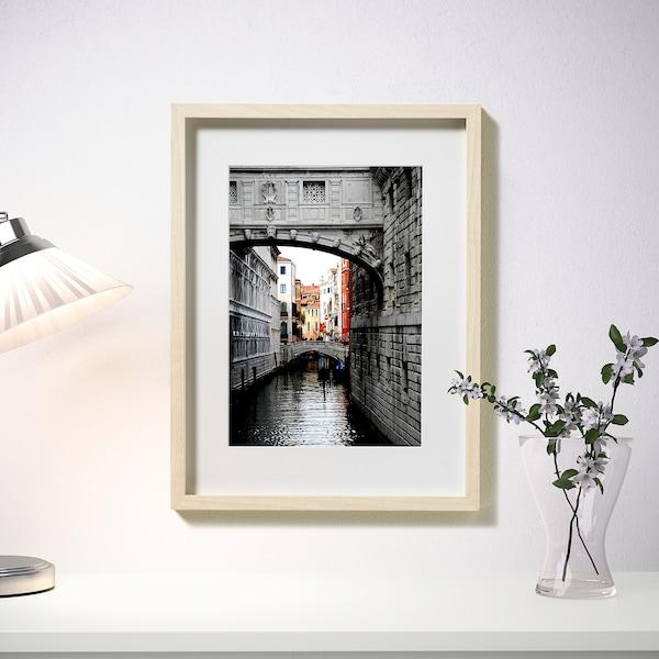 HOVSTA Fotolijst, berkenpatroon, 30x40 cm