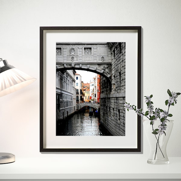 HOVSTA Fotolijst, donkerbruin, 40x50 cm