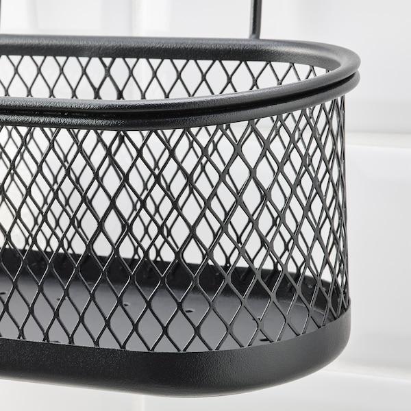 HULTARP Houder, zwart/netstof, 31x16 cm