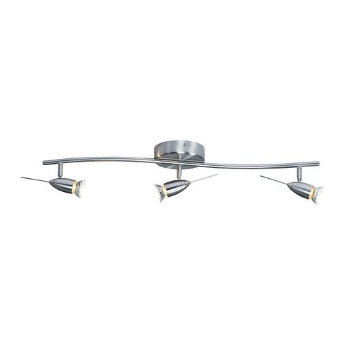 HUSINGE Plafondrail, 3 spots IKEA Armen en spots zijn verstelbaar ...
