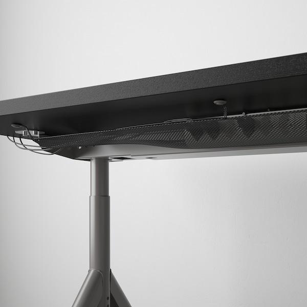 IDÅSEN Bureau, zwart/donkergrijs, 160x80 cm
