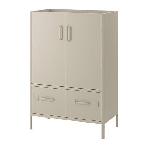 Metalen Ikea Kast.Idasen Kast Met Deuren En Lades Beige Ikea