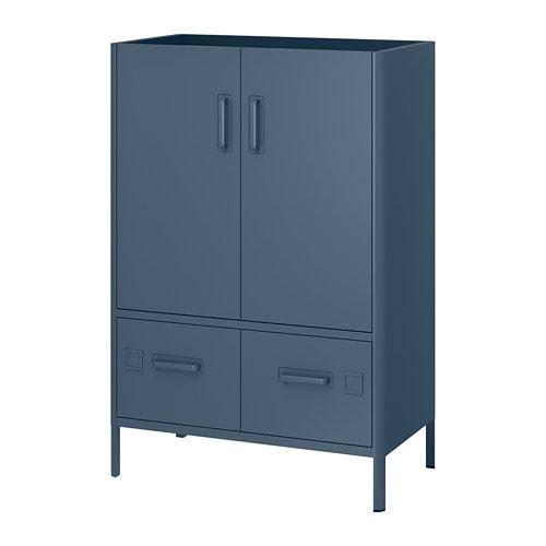 Hangkast Met Slot.Idasen Kast Met Smart Lock Blauw Ikea