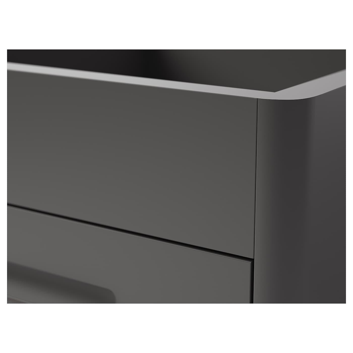Uitgelezene IDÅSEN Ladeblok met smart lock - donkergrijs - IKEA ZS-69