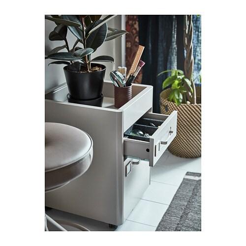 Spiksplinternieuw IDÅSEN Ladeblok met smart lock - donkergrijs - IKEA HK-15