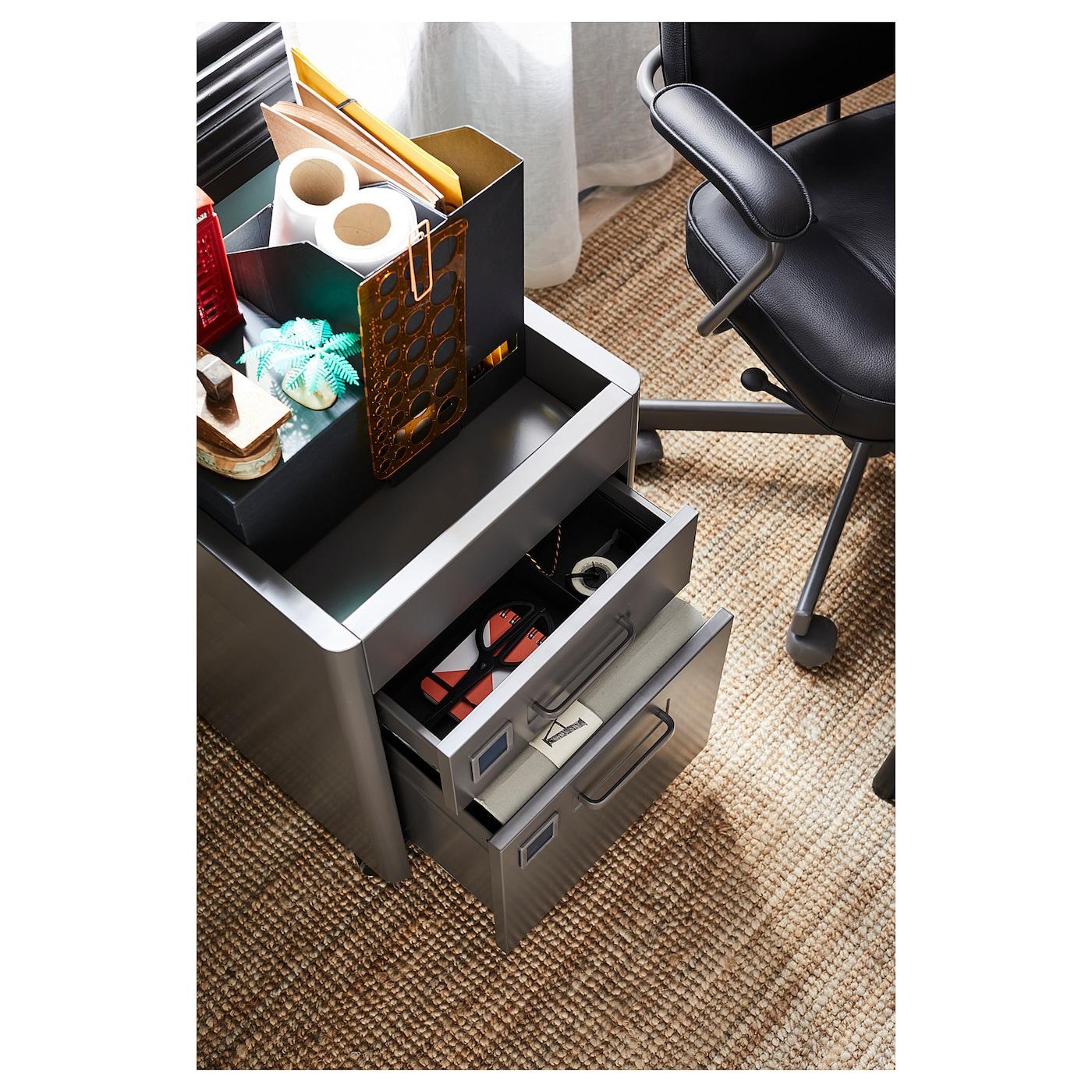 Spiksplinternieuw IDÅSEN Ladeblok met smart lock - donkergrijs - IKEA WF-27