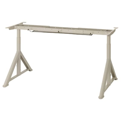 IDÅSEN Onderstel tafelblad, beige, 146x67x76 cm