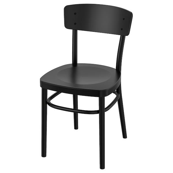 Eetkamer Stoel Ikea.Idolf Eetkamerstoel Zwart Ikea