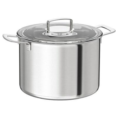 IKEA 365+ Pan met deksel, roestvrij staal/glas, 10 l