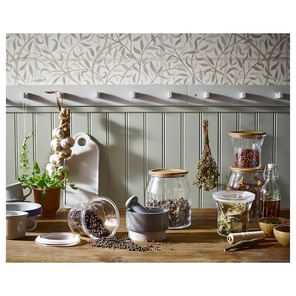 IKEA 365+ Voorraadpot met deksel, glas/bamboe, 3.3 l