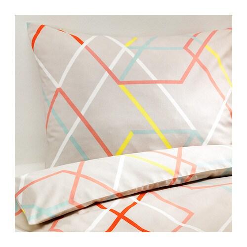 ikea ps 2014 dekbedovertrek met 2 slopen 200x200 60x70 cm ikea. Black Bedroom Furniture Sets. Home Design Ideas