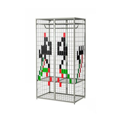 Ikea Grundtal Magnetic Spice Containers ~ IKEA PS 2014 Garderobekast  zilverkleur  IKEA