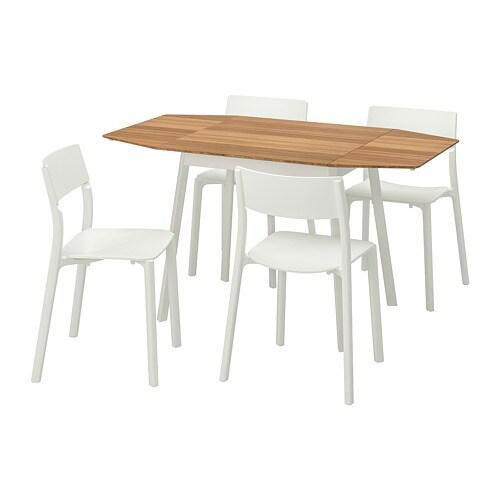 Eettafel En Stoelen Ikea.Ikea Ps 2012 Janinge Tafel En 4 Stoelen Bamboe Wit