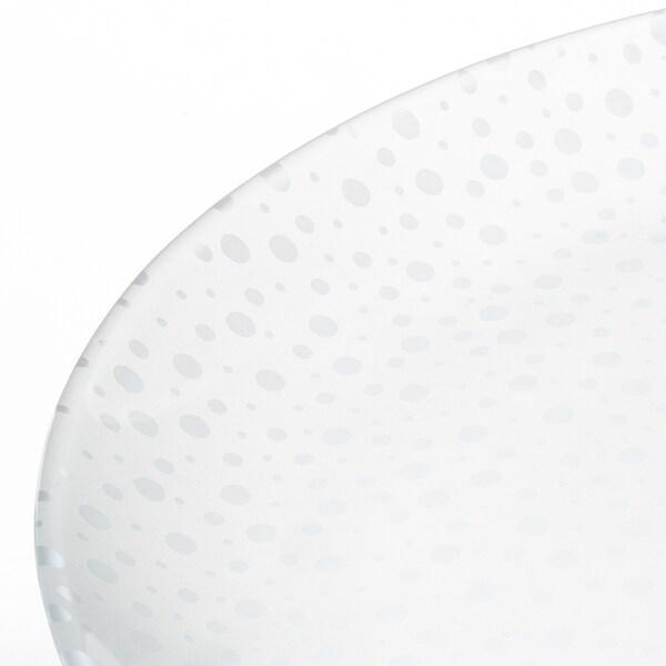 INBJUDEN Bord, frosted glas, 26 cm