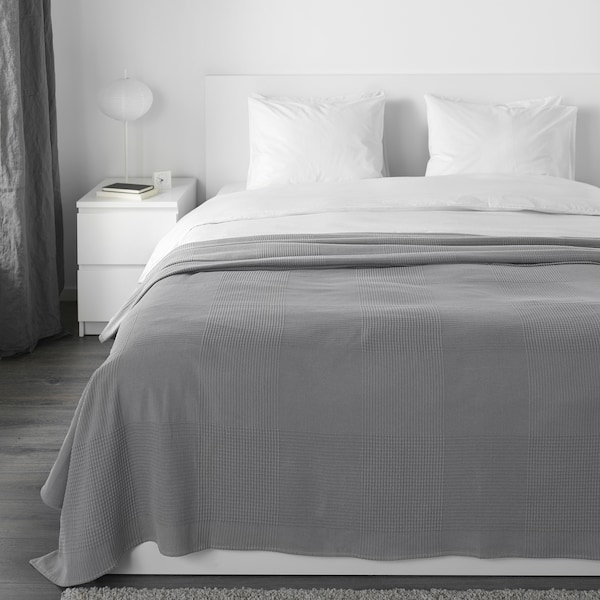 INDIRA Sprei, grijs, 230x250 cm