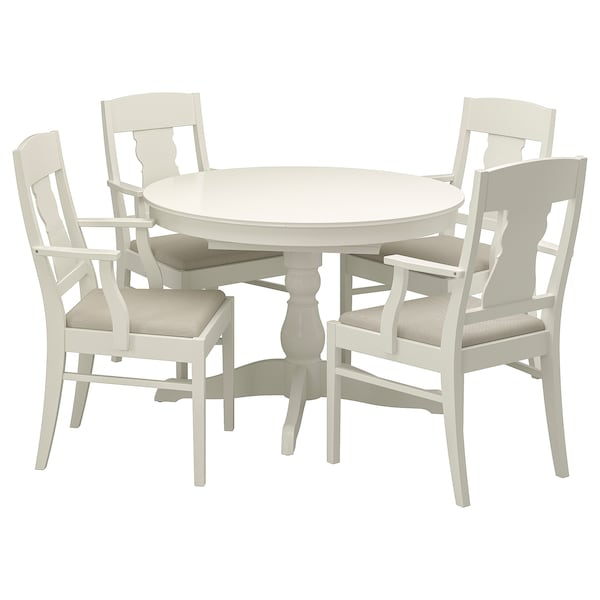 INGATORP / INGATORP tafel en 4 stoelen wit 110 cm 155 cm 74 cm 110 cm