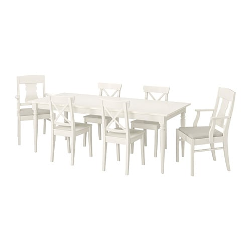 Wonderbaar INGATORP / INGOLF Tafel met 6 stoelen - IKEA SD-74