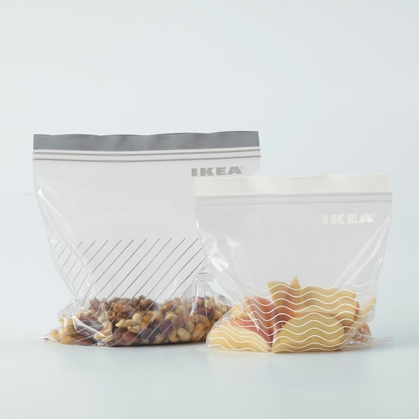 ISTAD Hersluitbare zak, grijs/wit