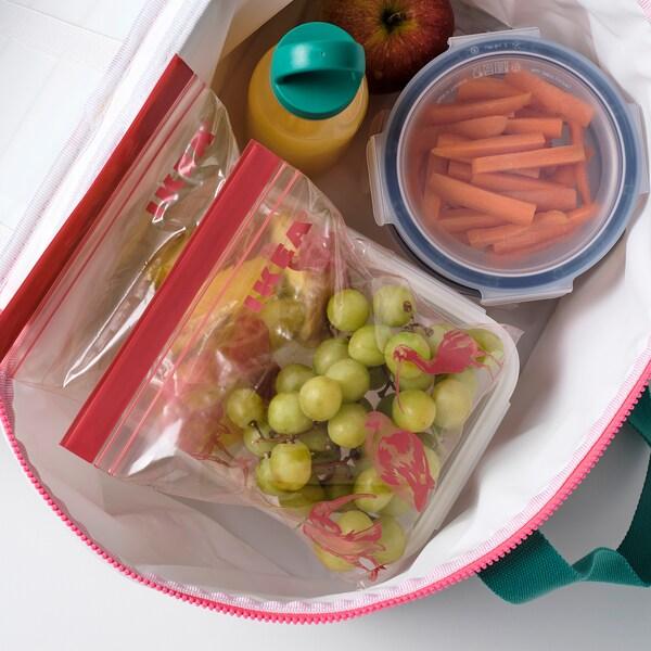 ISTAD hersluitbare zak met een patroon/roze 1 l 25 st.