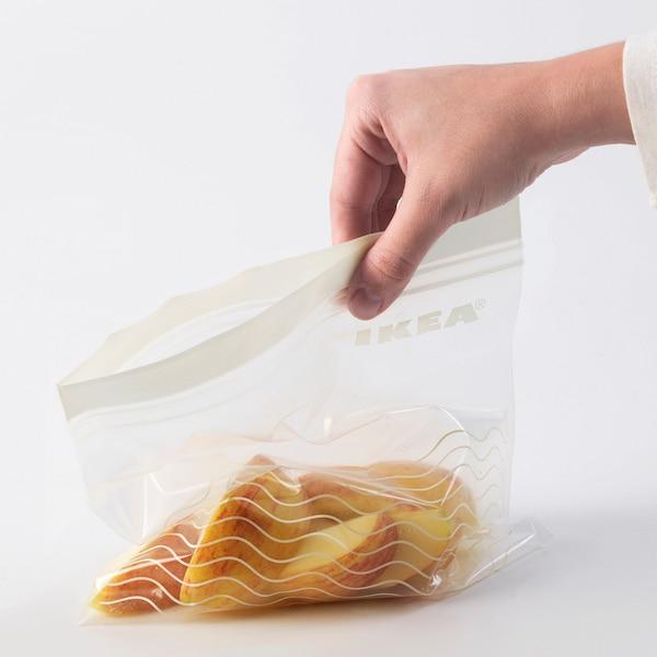 ISTAD hersluitbare zak grijs/wit 50 st.