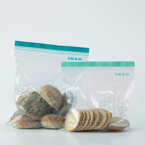 ISTAD hersluitbare zak turkoois/lichtturkoois 30 st.