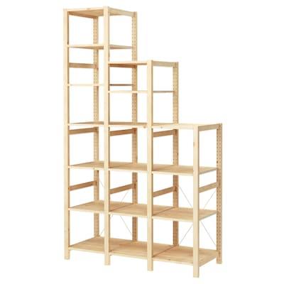 IVAR 3 elementen/planken, grenen, 139x50x124-226 cm