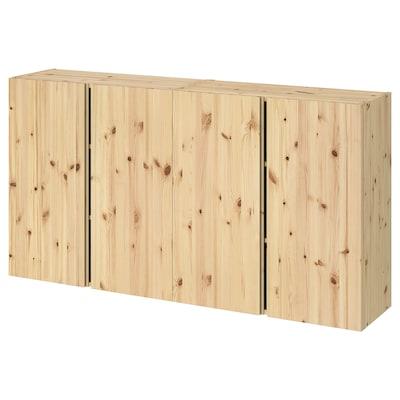 IVAR Bovenkast met deuren, grenen, 160x30x83 cm