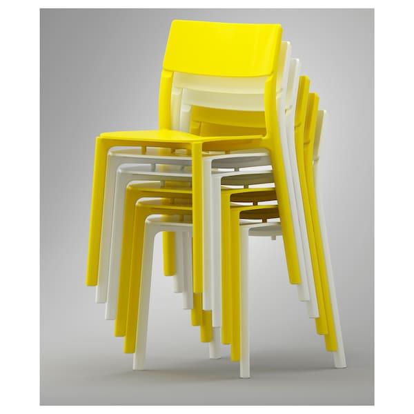 JANINGE eetkamerstoel geel 110 kg 50 cm 46 cm 76 cm 40 cm 40 cm 44 cm